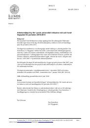 Arbetsmiljöpolicy för Lunds universitet inklusive mål och hand ...