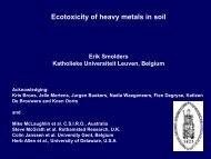 Toxicity of metals to plants and soil micro-organisms - Proland.iung ...