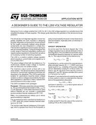 A DESIGNERS GUIDE TO THE L200 VOLTAGE REGULATOR