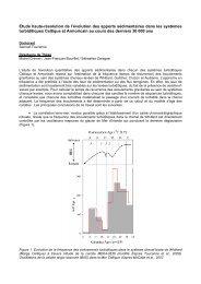 Etude haute-résolution de l'évolution des apports sédimentaires ...
