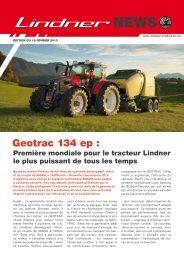 Geotrac 134 ep : - Lindner Traktoren