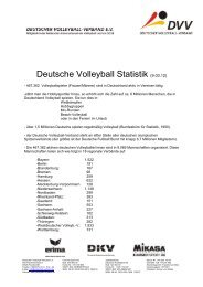 Deutsche Volleyball Statistik (9.03.12) - Deutscher Volleyball-Verband