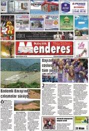 23 Nisan tarihli Küçükmenderes gazetesi
