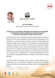 Chip Foose participará en el Concurso internacional al ... - El Chapista