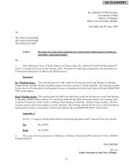 Revision of terms and conditions for contractual employment ... - ECHS