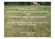 Landscape context determines the regeneration success of old ...