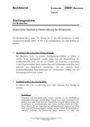 BR-Drucks. 338/01 - Institut für internationales und ausländisches ...