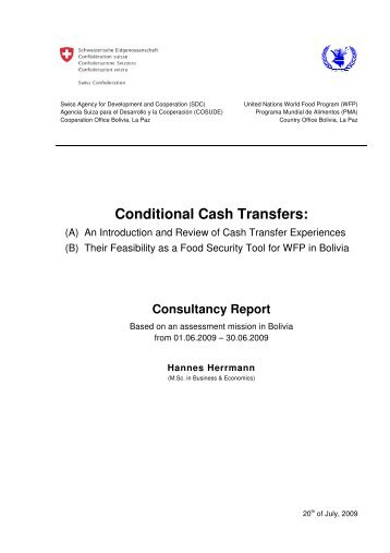 3 Review on Conditional Cash Transfers - herrmannconsulting.ch