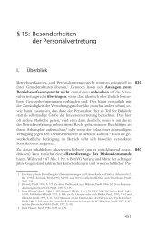 § 15: Besonderheiten der Personalvertretung - Bund-Verlag GmbH
