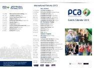 Events Calendar 2013