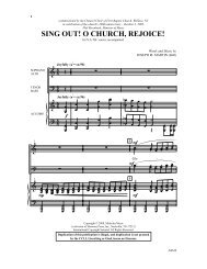 Sing Out! O Church, Rejoice!-eng.mus - Pine Lake Music