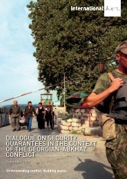 Dialogue on security guarantees in the context of ... - International Alert