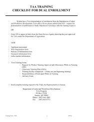 taa training checklist for dual enrollment - State of Alaska