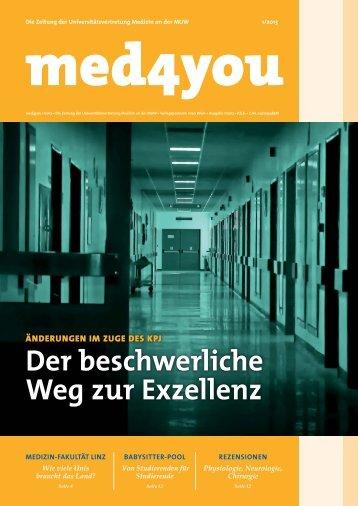 Der beschwerliche Weg zur Exzellenz - ÖH Medizin Wien