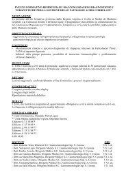 """1 evento formativo residenziale """"raccomandazioni diagnostiche e ..."""
