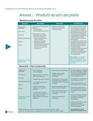 RNAO Produits de Soin des Plaies - Long-Term Care Best Practices ...