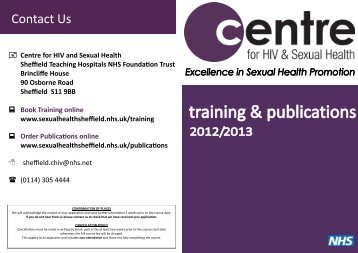 Sexual health sheffield central site of lesion