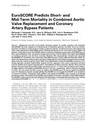 EuroSCORE Predicts Short- and Mid-Term Mortality in Combined ...