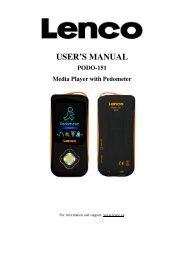 USER'S MANUAL - Lenco