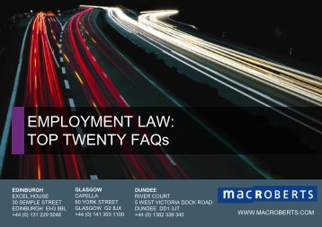EMPLOYMENT LAW: CASE STUDY UPDATES - MacRoberts