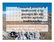 Comment préserver la biodiversité et les paysages liés aux activités ...
