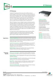 IP TVGateway - VIDELCO