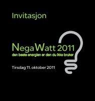 NegaWatt 2011 - Schneider Electric