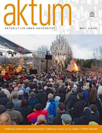 Aktum nr 4 - Umeå universitet