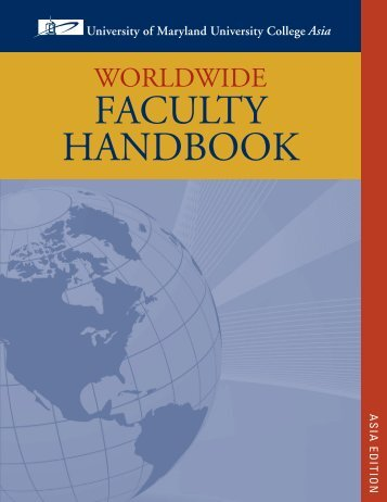 Faculty Handbook_Asia_v5 BB.indd - University of Maryland ...