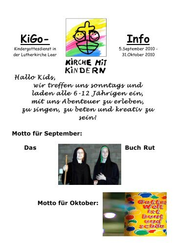 KIGO-Info 2010.3_ - Lutherkirche Leer