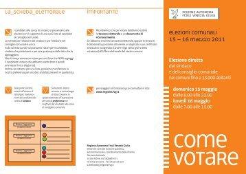 Elezioni comunali - Sistema delle autonomie locali - Regione ...