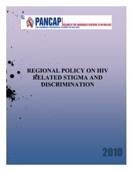 regional policy on hiv related stigma and discrimination