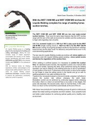 WST MS torches - Safety Data Sheets > Air Liquide Welding