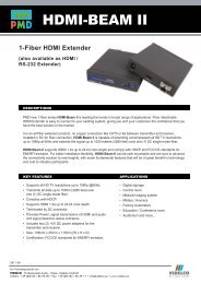 Data Sheet HDMI Beam II - VIDELCO