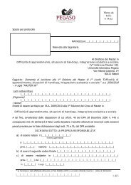 Page 1 1 di 3 Spazio per protocollo MATRICOLA |__|__|__|__|__|__ ...