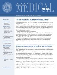 The clock runs out for MinuteClinic™ - Rhode Island Medical Society