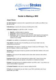 Guide to Making a Will - Different Strokes