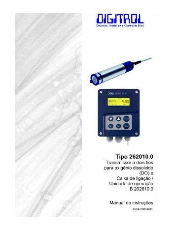 Transmissor de oxigênio Dissolvido Jumo - Digitrol