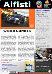 WINTER ACTIVITIES - Alfa Romeo Owners Club