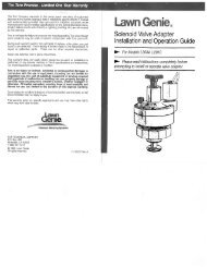 Lawn Genie Richdel L201034 Valve Owner's Manual - Irrigation Direct