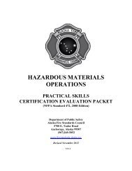 hazardous materials operations - Alaska Department of Public Safety
