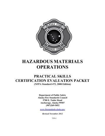 hazardous materials operations - Alaska Department of Public Safety