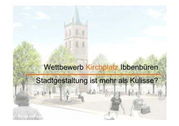 Wettbewerb Kirchplatz - Stadt Ibbenbüren