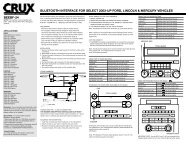bluetooth interface for select 2003-up ford, lincoln - CRUX ...