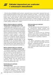 1. Základní doporučení pro svařování v ochranných atmosférách ...