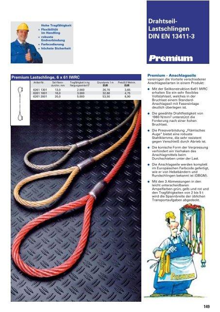 Anschlagseile Seilgehänge Laufende Seile Stehende Seile Seil ...