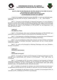 Regulamento do Programa - Faculdade de Odontologia de ...