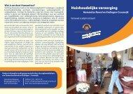 Folder huishoudelijke verzorging, Humanitas Noord en Kralingen ...