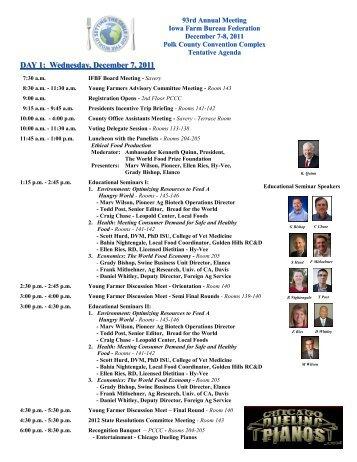DAY 1: Wednesday, December 7, 2011 - Iowa Farm Bureau