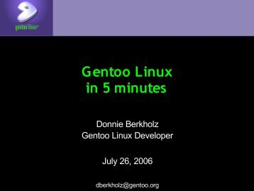 Introduction to Gentoo Linux